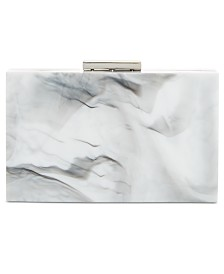 I.N.C. Inci Marble Box Clutch, Created for Macy's