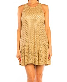 Jordan Taylor Pyrite Sun Flared Tank Dress