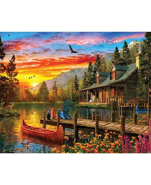 Springbok Puzzles Cabin Evening Sunset 1000 Piece Jigsaw Puzzle