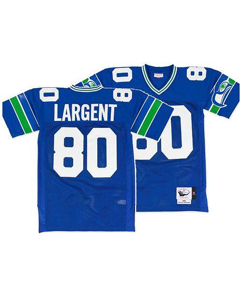 Mitchell & Ness Men's Steve Largent Seattle Seahawks Authentic Football Jersey