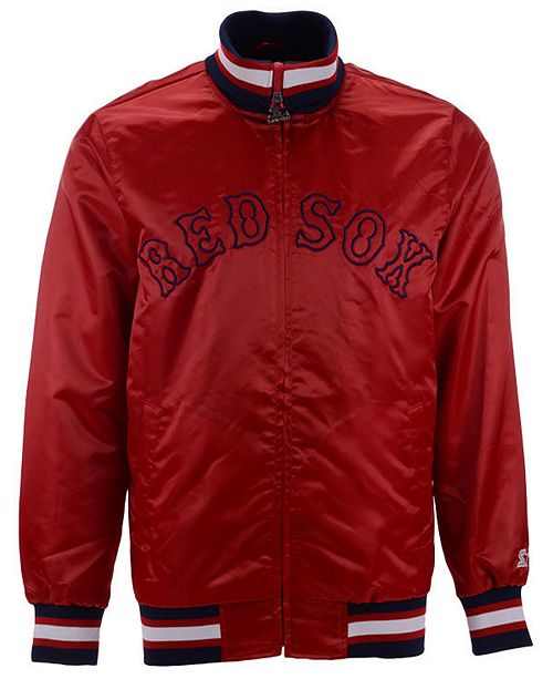 Starter Men's Boston Red Sox Captain Coop Satin Jacket