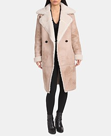 Asymmetrical Faux-Shearling Coat
