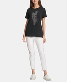 DKNY Studded Logo T-Shirt