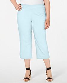Plus Size Rhinestone-Embellished Capri Pants, Created for Macy's