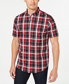 Men's Stretch Moisture-Wicking Plaid Shirt, Created for Macy's