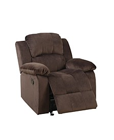 Rocker Recliner in Suede Fabric