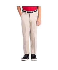Haggar Boys Premium No Iron Khaki, Slim Fit, Flat Front Pant Size 8 - 20