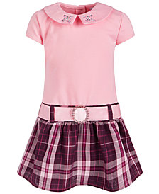 Blueberi Boulevard Toddler Girls Plaid T-Shirt Dress