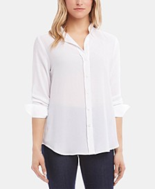 Shirred-Sleeve Shirt