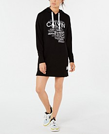 Logo-Graphic Hoodie Dress