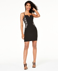BCX Juniors' Embellished-Side Bodycon Dress