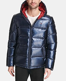 Men's Pearlized Performance Hooded Puffer Coat