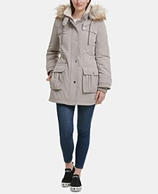 Faux-Fur-Trim Hooded Anorak, Created for Macy's