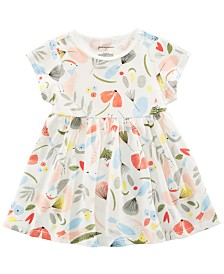 First Impressions Baby Girls Cotton Bird-Print Tunic, Created for Macy's