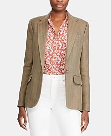 Lauren Ralph Lauren Petite Herringbone Tweed Blazer