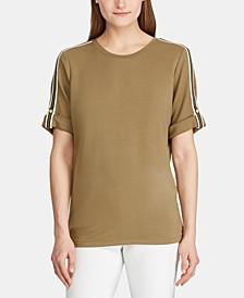 Petite Track-Stripe T-Shirt