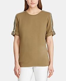 Lauren Ralph Lauren Petite Track-Stripe T-Shirt