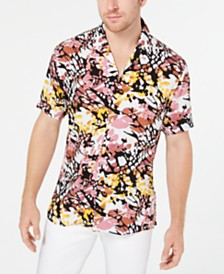I.N.C. Men's Abstract Animal Print Shirt, Created for Macy's