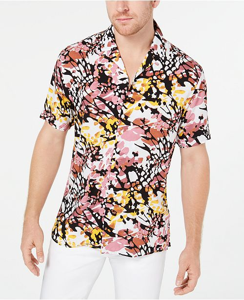 INC International Concepts INC Men's Abstract Animal Print Shirt, Created for Macy's