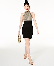 Juniors' Animal-Print Bodycon Dress