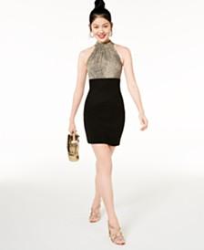 Teeze Me Juniors' Animal-Print Bodycon Dress