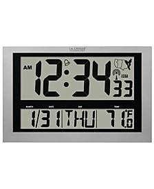 Jumbo Atomic Digital Wall Clock with Indoor Temperature