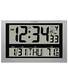 La Crosse Technology Jumbo Atomic Digital Wall Clock with Indoor Temperature