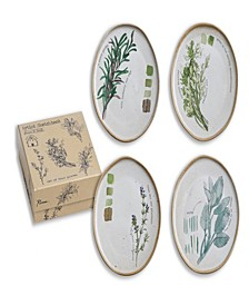 Farm to Table Herbs Plates Set of 4