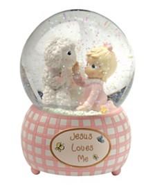 Precious Moments Jesus Loves Me Snow Globe, Girl