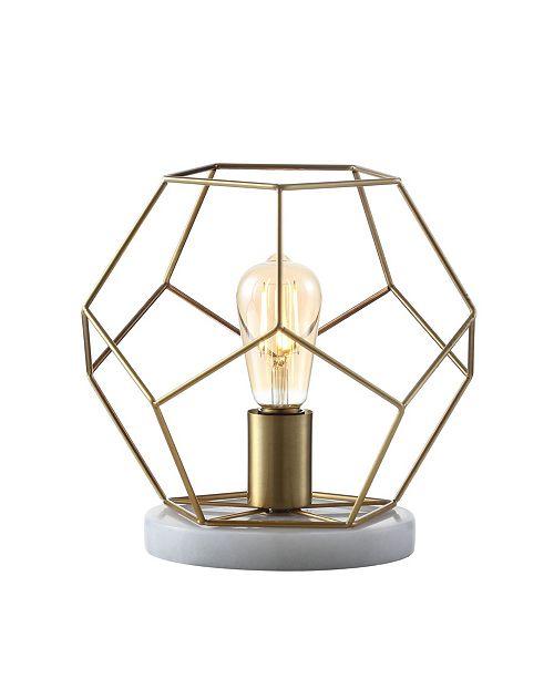 "JONATHAN Y James 10"" Metal/Marble LED Table Lamp"