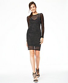 Teeze Me Juniors' Allover-Rhinestone Dress