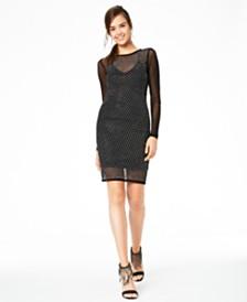 Teeze Me Juniors' Allover-Rhinestone Dress
