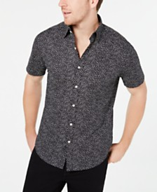 Michael Kors Men's Lewis Slim-Fit Stretch Dot-Print Shirt