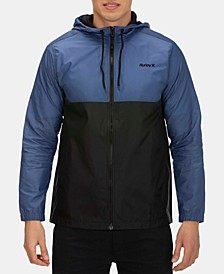 Men's Siege Water-Resistant Colorblocked Hooded Windbreaker