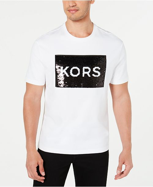 Michael Kors Men's Double-Sided Sequin Graphic T-Shirt