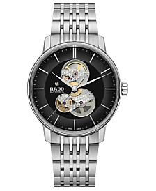 Rado Men's Swiss Automatic Centrix Stainless Steel Bracelet Watch 41mm