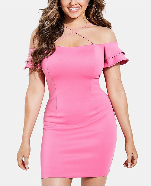 GUESS Off-The-Shoulder Charmaine Dress