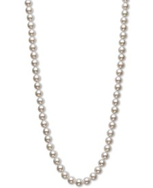 "Belle de Mer Cultured Freshwater Pearl 20"" Strand Necklace (7-1/2-8-1/2mm) in 14k gold"