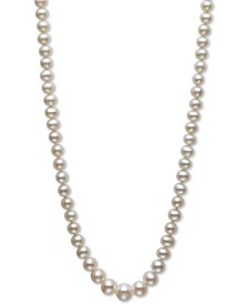 "Belle de Mer Pearl Necklace, 18"" 14k Gold AA Cultured Freshwater Pearl Graduated Strand (6-9.5mm)"