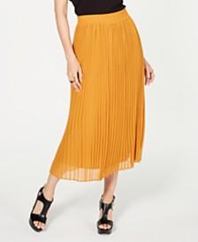 Thalia Sodi Pleated Midi Skirt, Created for Macy's