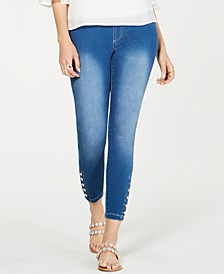 Snap-Stud Jeggings, Created for Macy's