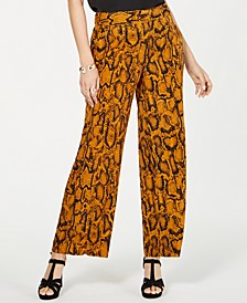 Animal Print Wide-Leg Pants, Created for Macy's