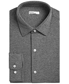 Men's Slim-Fit Stretch Heather Knit Dress Shirt, Created for Macy's