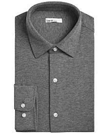 Bar III Men's Slim-Fit Stretch Heather Knit Dress Shirt, Created for Macy's