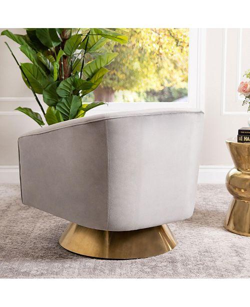 Swivel Accent Chair Macys: Furniture Chloe Swivel Accent Chair, Quick Ship & Reviews