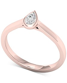 Diamond Pear Solitaire Ring (1/5 ct. t.w.) in 14k Rose Gold