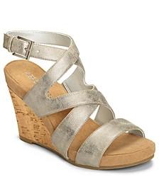 Silverplush Wedge Sandals