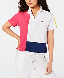 Cropped Colorblocked Polo Shirt