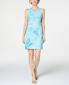 Petite Sequined Keyhole Dress, Created for Macy's