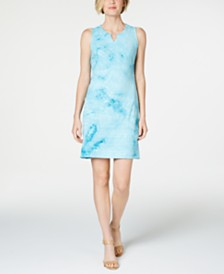 JM Collection Petite Sequined Keyhole Dress, Created for Macy's